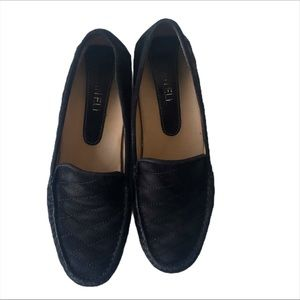 Vaneli Black Quilted Suede Loafers Size 7.5M